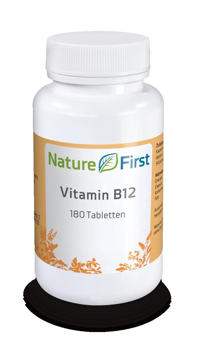 Nature First Vitamin B12 Tabletten 500mcg 180 Stk